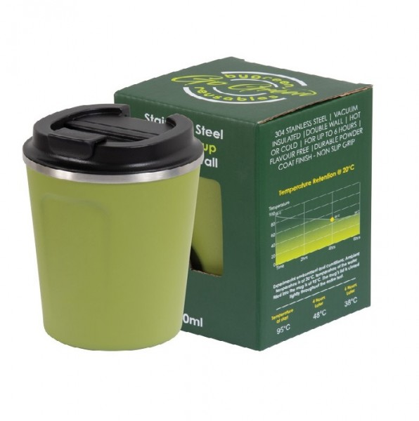 Olive Stainless Steel Thermo Insulated Reusable Coffee Cup