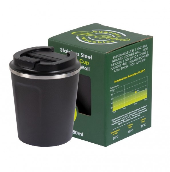 Slate Stainless Steel Thermo Insulated Reusable Coffee Cup