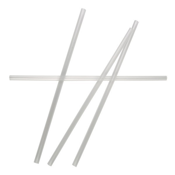 Clear plastic Cocktail Straws