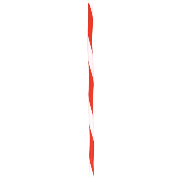 Red and White Plastic Wobbly Striped Candy Cane Straws