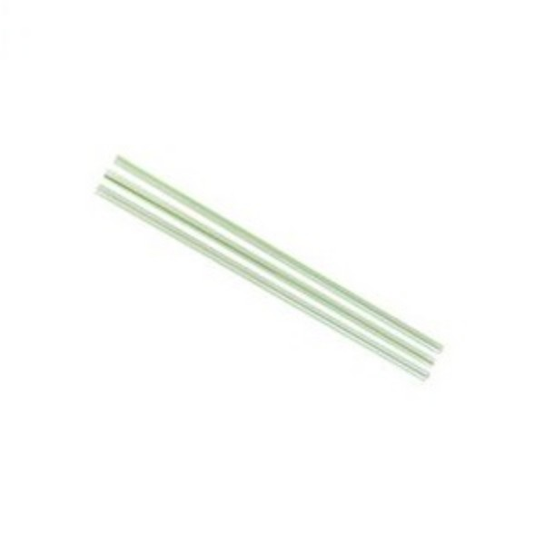 Clear Green Stripe Biodegradable Bubble Tea Straws