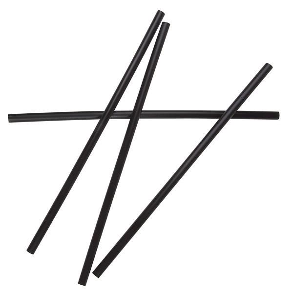 Black PLA Compostable Plastic Cocktail Straws