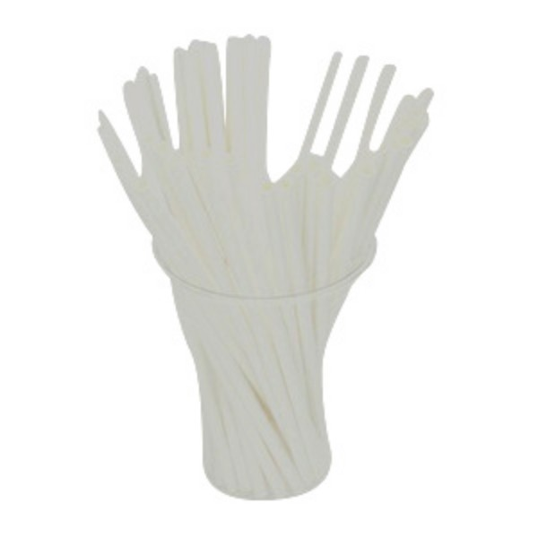 White Biodegradable Paper Straws