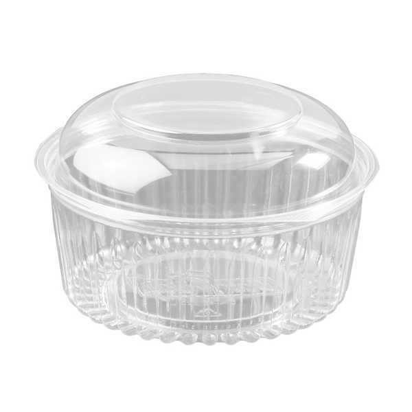 Clear Recyclable PET Plastic Salad Bowls