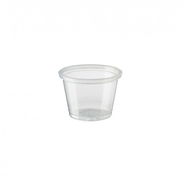 Transparant Recyclable PET Plastic Portion Cups