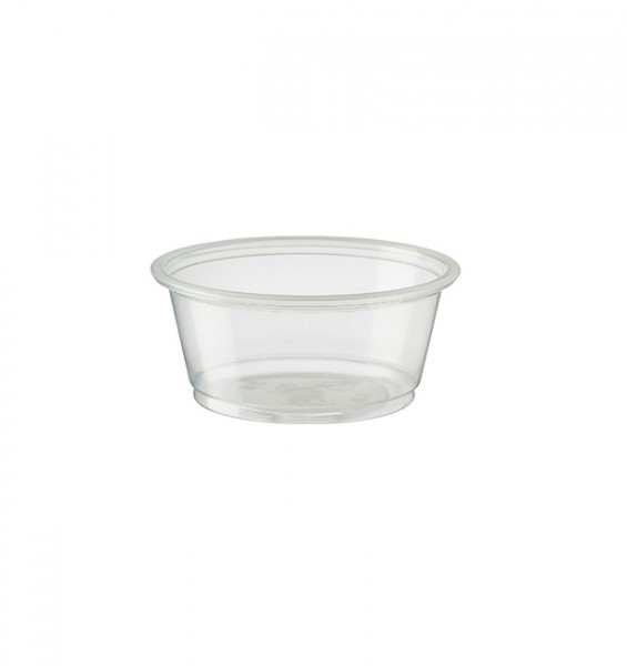 Clear Recyclable PET Plastic Portion Cups