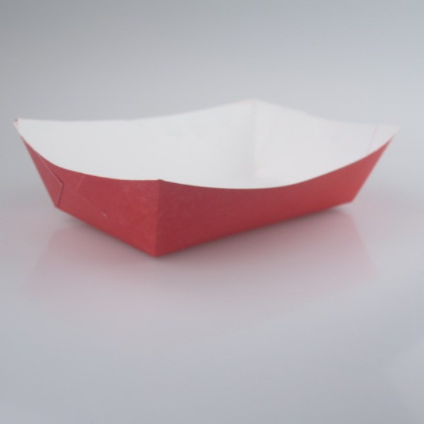 Red Cardboard Food Trays