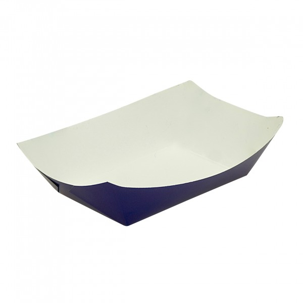 Blue Cardboard Food Trays