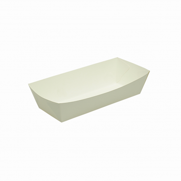 White Cardboard Hot Dog Trays