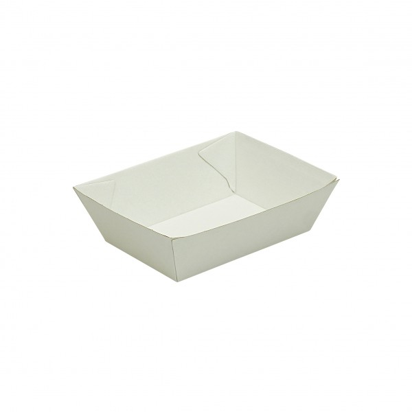 White Corrugated Cardboard Trays