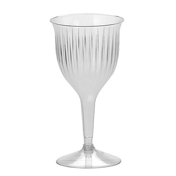 Transparent Premium Plastic Wine Goblets