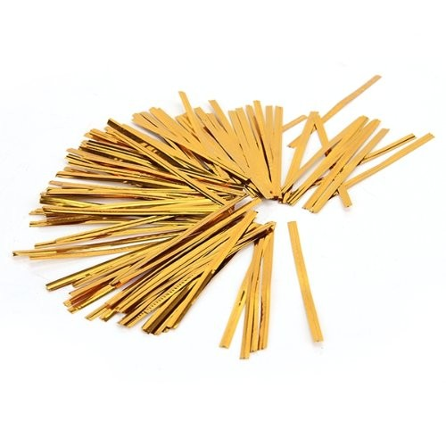 Gold and Silver Plastic Twist Ties