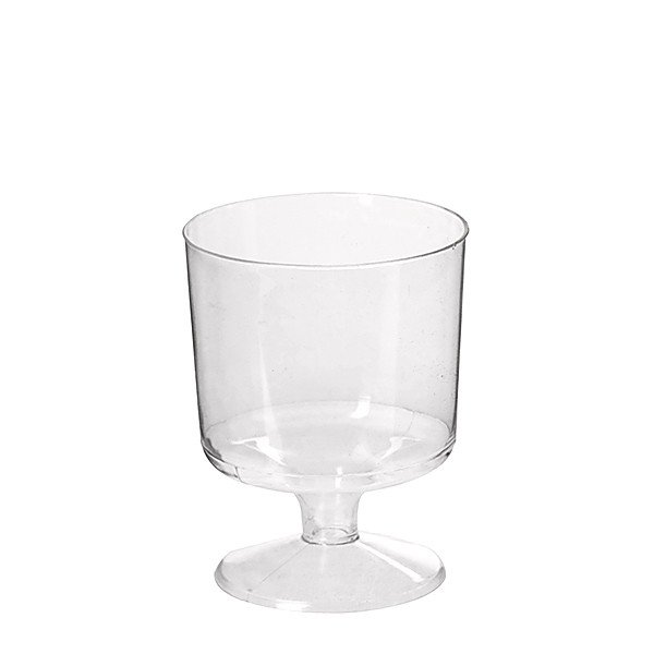 Clear Plastic Wine Tasting Glasses