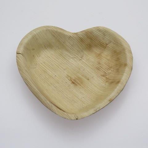 Heart Palm Leaf Plates 260mm | Brown Palm Leaf Plates